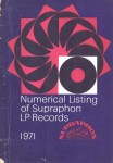 Numerical Listing of Supraphon Records 1971